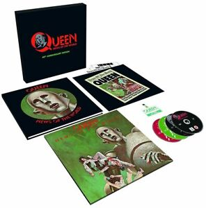 QUEEN – NEWS OF THE WORLD – 3CD/DVD/LP SUPER DELUXE BOX SET [NEW & SEALED]
