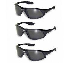 Cobra Sunglasses 3-Pack Smoke Safety Lens Motorcycle Cycling Ski Glasses Sports