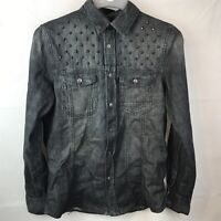 BERSHKA NIGHT COLLECTION STUDDED GENTS MANS MENS SHIRT TOP SIZE S