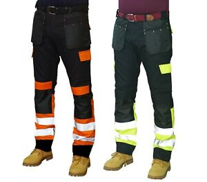 Prime Men Work Cargo Trousers Reflective Visibility Pants