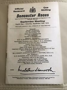 Nijinsky wins Triple Crown 1970 St Leger Fantastic Condition for age Iconic Card