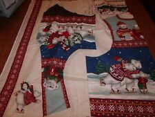 Concord Holiday on Ice Vest Fabric Panel Sizes S-XL Polar Bears Skating