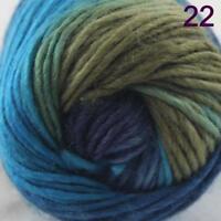 AIP Sale 1 Skein x50g Rainbows Coarse Hand Knit Quick Wool Yarn Shawl Scarves 22