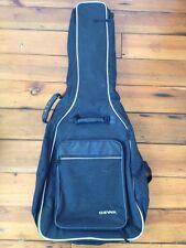 Gewa Black Guitar Gig Bag Soft Case Zipper Backpack Carry On Luggae