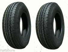 TWO TIRES 185/80R13 ST  Trailer King II LRC Radial Trailer Tires with Free Ship