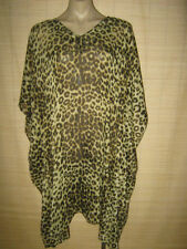 Unbranded Chiffon Animal Print Short Sleeve Tops for Women