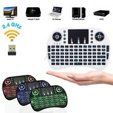 2.4G Mini Wireless Air Mouse Keyboard Touchpad 3-Color Backlight For TV PC
