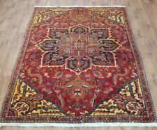 Traditional Vintage Wool Handmade Classic Oriental Area Rug Carpet 253cmX152cm