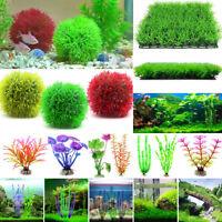 Aquarium Dekoration Künstlich Deko Pflanze Koralle Wassergras Graskugel Seeigel