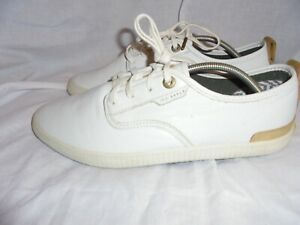 TED BAKER MEN WHITE LEATHER LACE UP TRAINERS SIZE UK 7 EU 41 US 8 VGC