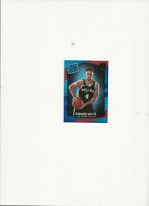 2017-18 Donruss Derrick White  Rated Rookie Holo Red and Blue Laser /15