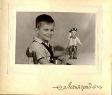 Russian 1970s Oleg Popov Clown Toy Doll A boy USSR Real photo