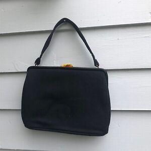 Brown Velvet Purse Small Vintage Handbag,top handle Mel-Tone