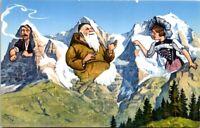Vintage Postcard Eiger Mönch And Jungfrau Switzerland Unposted