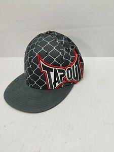 TAPOUT Snap back Hat Black Chain Link L/XL Logo Red White logo