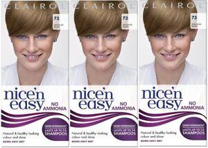 Clairol Nice'n Easy Demi-Permanent Hair Dye No Ammonia, 73 Medium Ash Blonde x 3