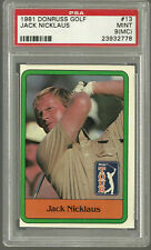 Jack Nicklaus  1981  Donruss #13 PSA 9 (mc) MINT  Golf  RC Rookie Graded
