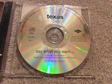 Very Rare Texas Say What You Want DJ Promo CD