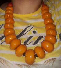 2 Moroccan Berber Amber Necklaces Vintage African Tribal Beads Handmade Jewlery
