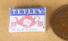 1:12 Scale vacío Tetley Teabags Paquete de muñecas en miniatura Cocina Accesorio