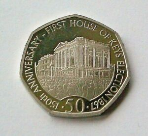 "2017 ""HOUSE OF KEYS"" ISLE OF MAN 50p COIN - *FREE P&P* - IoM MANX"