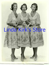 """McGuire Sisters Promotional Photograph """"Dick Clark's Record Years"""" CBS-TV 1959"""