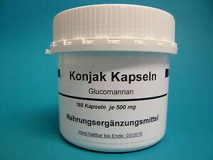 Konjak Kapseln, 180 x 500 mg (25,33 €/100 g)Amorphophallus konjac, Konjackapseln