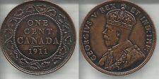 CANADA 1 CENT 1911  GIORGIO V SPL