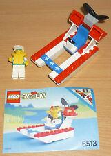 Lego City 6513 pequeño barco rápidamente V. 1993 + Oba