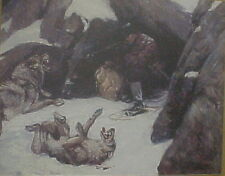Philip R. Goodwin, Wolves Attacking Trapper, Winchester