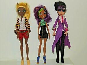Monster High Doll Lot of 3 Headless Headmistress BloodGood Claudia Clawdeen!
