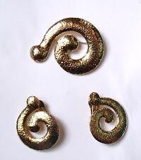 Parure vntage AGATHA : imposantes boucles d'oreilles (clips) & broche