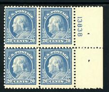 USAstamps Unused FVF US Franklin Plate Block Scott 515 OG Bottom MNH, Top MHR