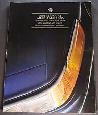1994 Mercury Grand Marquis Catalog Sales Brochure GS LS Excellent Original 94