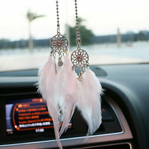 Dream Catcher Rearview Mirror Ornaments Car Interior Dreamnet Feather US Seller