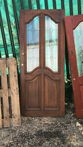 Stained Glass Solid Oak Door - Collection only