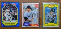 "3 Card ""Oddball"" lot CARL YASTRZEMSKI Red Sox HOFer Kellogg's +more NM/MT 1981"
