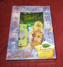 Tinker Bell Target exclusive DVD jewelry box/charm bracelet set NEW SEALED