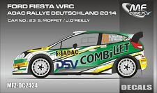 DECALS 1/24 FORD FIESTA WRC - #23 MOFFET - RALLYE ADAC ALLEMAGNE 2014 - DC2424