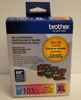Brother LC103CL XL Color Cyan Yellow Magenta Ink Cartridge (OPEN BOX) *EXP: 2021