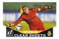 2015 Donruss Soccer Clean Sheets Gold Press Proof /99 #5 Iker Casillas