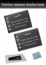 WT-LI42BK2 WT Battery (2pack) for Olympus Tough 3000,TG-310,TG-320,VG-165,VG-180