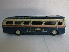 Vintage Old Tin Toy Sonicon Bus Tin Toy Made in Japan, Collectible