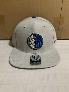 Dallas Mavericks NBA '47 Brand Gray Boreland Captain Adjustable Snapback Hat