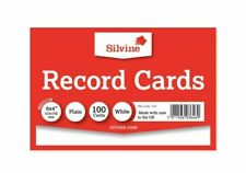 Silvine Record Cards � White, Pack of 100
