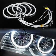 Xenon Headlight 6000k COB LED Angel Eyes Halo Rings Kit For BMW E46 E36 E39 E38