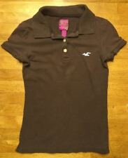 Hollister Women's Brown Short Sleeve Polo Shirt - Size: XS