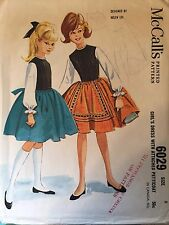 """Vintage 1960's McCall's 6029 Girl's Dress Pattern Size 8 Bust 26"""""""