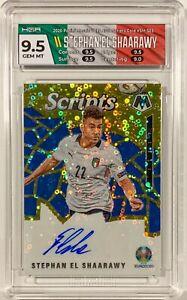 2021 Mosaic UEFA EURO Stephan El Shaarawy Scripts Gold Auto /10 HGA 9.5 Italy