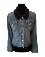 Levis Denim Jacket Levis Sherpa Denim Jean Jacket Trucker Jacket Women's Small